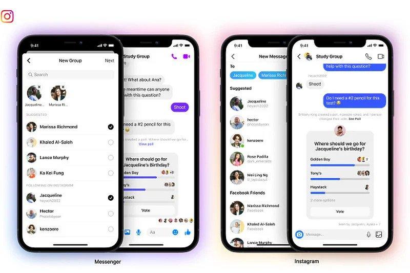 Korisnici Instagrama se mogu pridružiti grupnim chatovima na Messengeru
